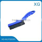 stainless steel knife brush/knife steel wire cleaning brush long handle