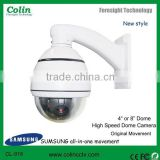 CCTV camera with 100X zoom, and automatic conversion ,4 road alarm input ,four privacy canopy