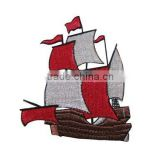 Boat car plain embroidery iron on badges
