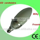 E14 warm white milky round led candelabra bulbs , Dimmable