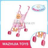 16 inch silicone baby born dolls new stroller toy kids with lowest price