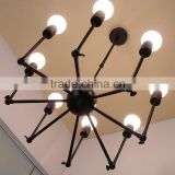 Wide Vintage Chandelier Spider Shade Pendant Chandelier 12 Arms Offer Bright Sophisticated Ceiling Chandelier