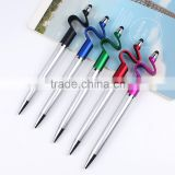 Novelty pens for kids metal ball pen with stylus for gifts and sample is free