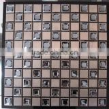 Kitchen backsplash tile glass mix stainless steel mosaic                                                                                                         Supplier's Choice