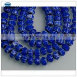 RoyalBlue Lampwork glass loose beads Material for jewelry making