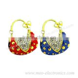 Sparkly Colorful Bag Shape Jewelry USB Stick with 100% Full Capacity, USB Flash Drive, USB 2.0