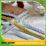 [NTSUNRISING]lHight quality gold and silver lurex polyester braid binding herringbone tape trim