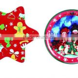2015 custom design Christmas melamine plate