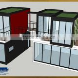 iPrefab-LPOBS-M5 Amusing interesting inventive innovative prefabricated stores complexes container and prefab shops sunroom bar