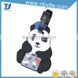 Yite factory price lovely bear shape cool luggage tags panda