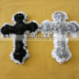 35x25cm PET classic cross Easter hanging decoration