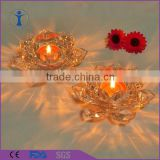 Romantic Wedding home decorative lotus flower shaped glass holder                                                                         Quality Choice