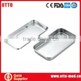 Stainless steel dental sterilization trays