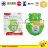 Cartoon Roly-poly dolls,plastic tumbler with music and light