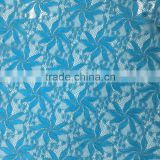 royal blue elastic nylon spandex lace fabric factory wholesale
