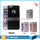 New 2 in 1 Matte Aluminum Metal Brushed Back Cover + Soft TPU Phone Case For iPhone 6 6s 4.7""
