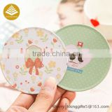 Christmas gifts wholesale cork tin coaster with logo custom printed