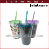 hard plastic cup with lid and straw 16oz reusable plastic cups hard plastic cups with straws