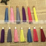 Wholesale 7-10cm Mutil Color Suede Leather Tassel,100pcs gold cap tassel for diy