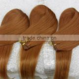 wholesale light color hair weft hair extension with smooth good quality indian human hair
