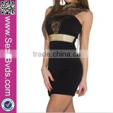 New Designs Sexy Women Waist Belt Clubwear Black with Golden Embroider                                                                         Quality Choice