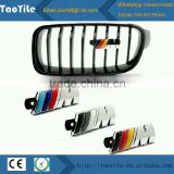 Modified grille emblem logo decorate sticker front hood grille badge for BMW
