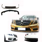 Carbon Fiber diffuser lip spoiler and front spoiler for Benz E-Class W212 E63 V-style 13~ fit for taiwan PP kit