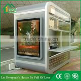Stainless Steel mobile shop with LED lights