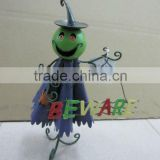 decorative metal halloween hanging green ghost decoration
