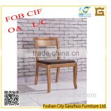 Modern neat ash solid wood dinning chair with cushion seat and fabric seat DCW9011#
