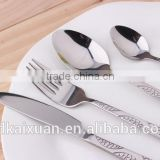 Fashional Design Stamped Pattern Stainless Steel Cutlery Set KX-S146