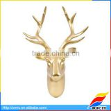 2017 New Design Gold plated Resin Deer Head Wall Hanger Home Decor