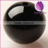 wholesale natural black agate round 4mm loose beads