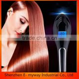 Professional Hair Straightener Brush Best for Beauty 40W Digital Electric Straightening Comb Styles Silky Loo
