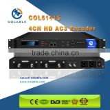 MPEG-2&H.264 Encoder,4 Channel hd-sdi encoder AC3,support CC ( closed caption) COL5141S