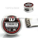 vape accessories 2016 ud prebuilt coil with Staggered fuse Twisted fuse Alien Staple staggered fuse clapton coil and Notch coil