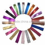 Glitter Hair Clips Girls Double Prong Alligator Hair Clips for Accessories Pu Leather Lined Hair Clips