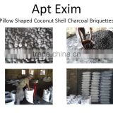 Coconut shell Charcoal briquettes suitable for barbeque,grills,out door cooking Manufacturer from Madurai