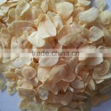 Chinese hot selling in 2015 HACCP HALAL high quality pure white dry garlic slice with root and without root