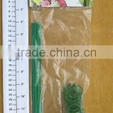100pc green color plant binding ties / plastic twist ties for vineyards/ plastic garden ties