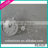 BS12-1004 antique white bigger bicycle-shape home decorative metal clock
