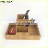 Bamboo Desktop Office Storage Organizer on Tabletop/Homex_FSC/BSCI Factory