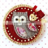 Hot new bestselling product wholesale alibaba handmade felt ornaments felt Owl brooch made in China
