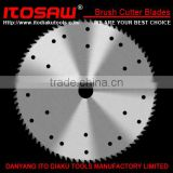 brush Cutter blade for the Mower, SK-5 material 4T with tooth size from 230mm to 600mm, thickness from 1.0mm to 3.0mm