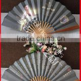 Portable and natural Chinese bamboo silk fan hand