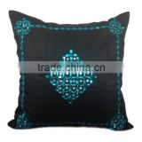Black Pillow with Turquoise Crystals , Decorative Pillow Cover, Modern Decor, Couch and Sofa Toss, Home Decor, living ro