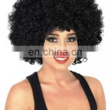 Unisex Black Afro Wigs Accessory For 70s Fancy Dress Mens or Ladies FW2108