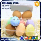Funny egg shaped chalk colorful chalk toy eco-friendly dustless jumbo chalk 6 pcs