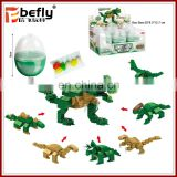 Dinosaur mold building block candy toy in capsule egg