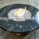 granite outdoor fire pit table in blue pear granite